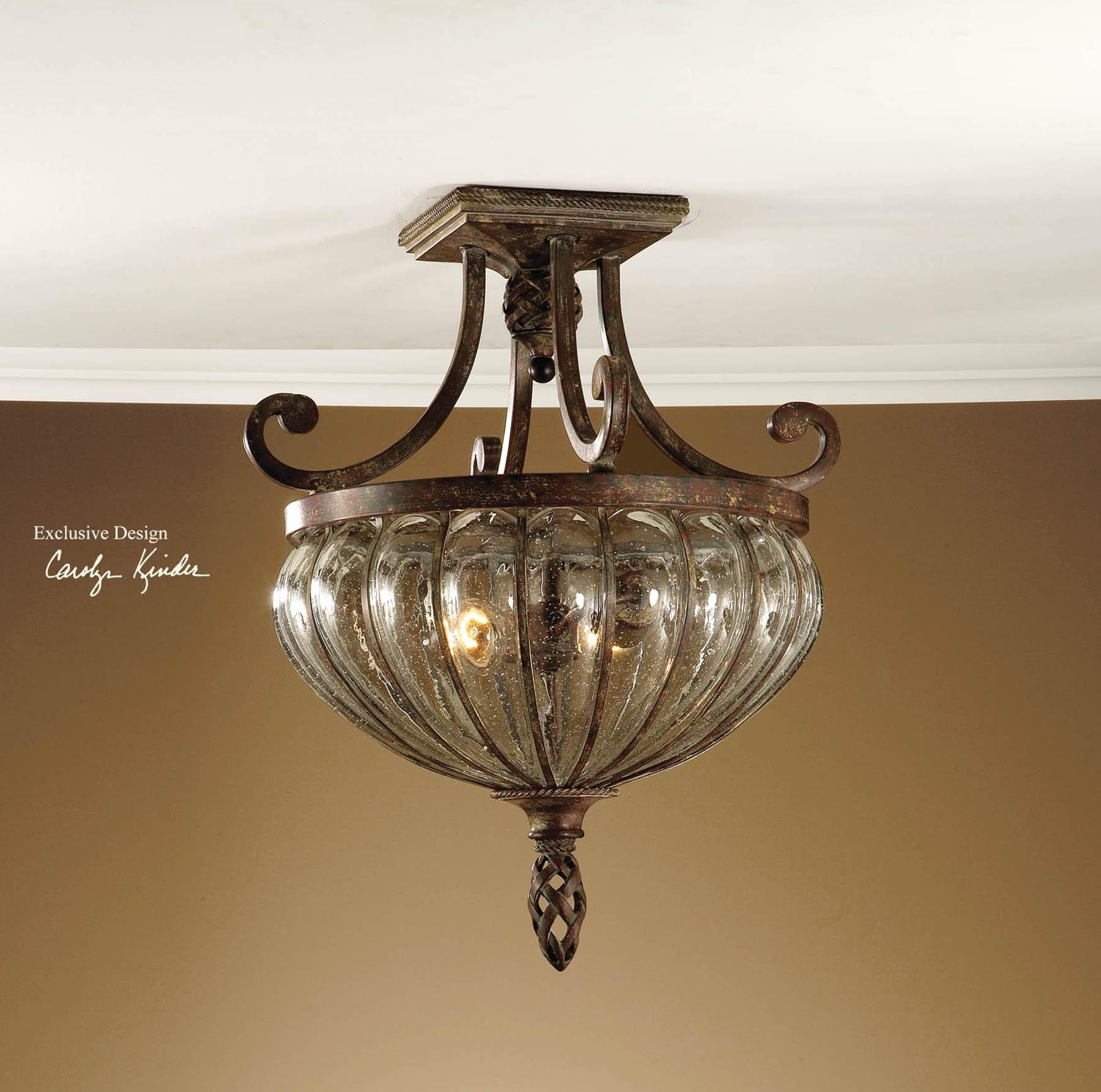 Uttermost Lighting Fixtures Galeana 2-Light Semi Flush Mount - Item Number: 22208