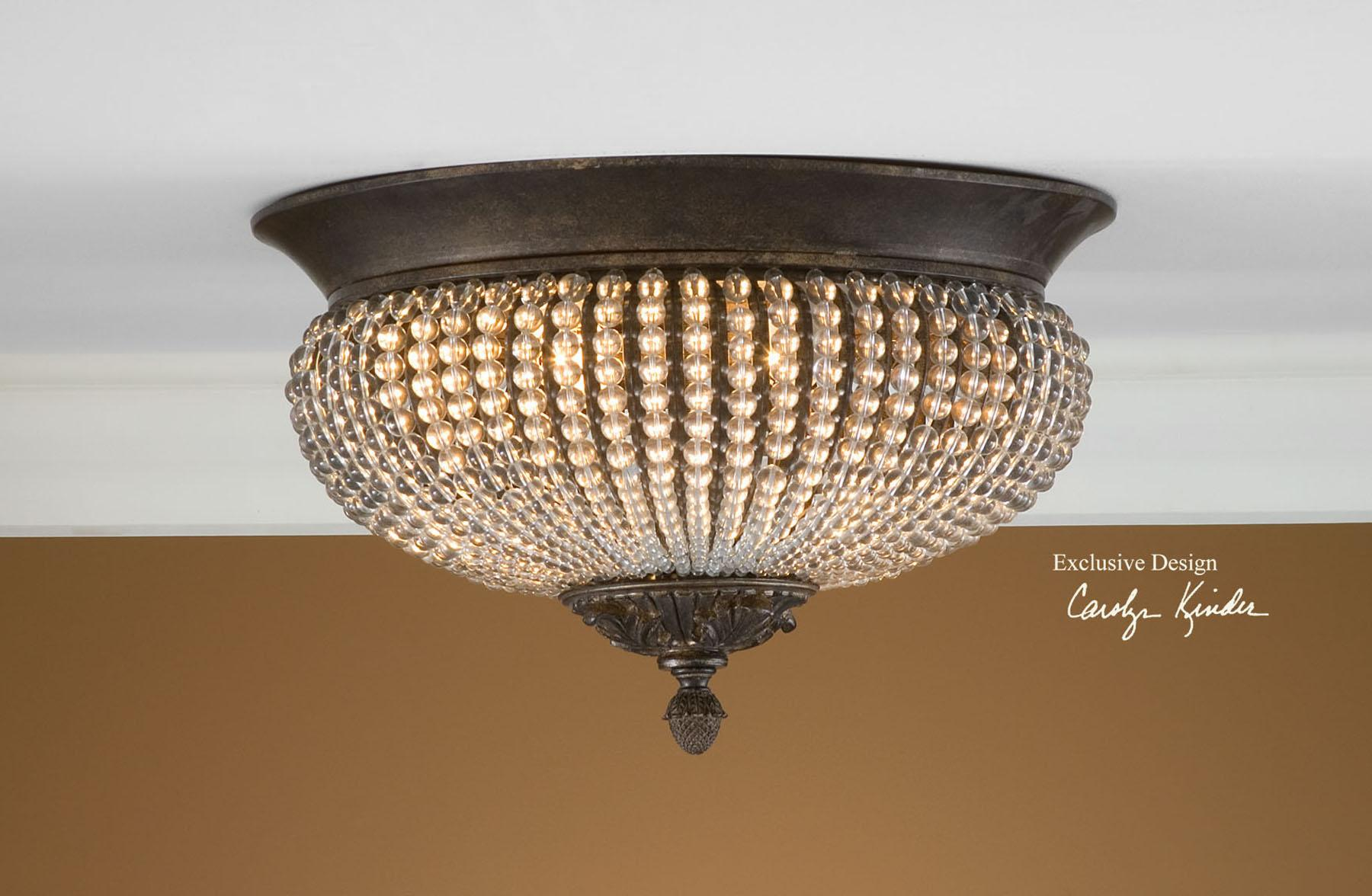 Uttermost Lighting Fixtures Cristal De Lisbon Flush Mount - Item Number: 22222