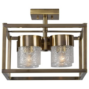 Uttermost Lighting Fixtures  Marinot 4Lt. Semi Flush