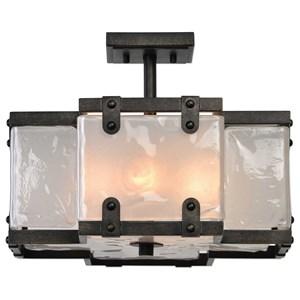 Uttermost Lighting Fixtures Brattleboro Industrial 4 Light Semi Flush