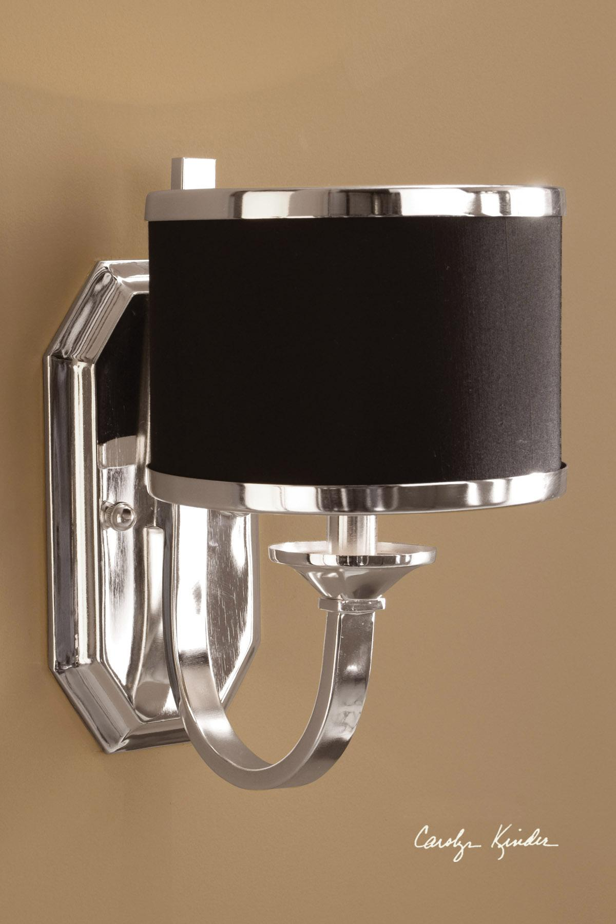 Uttermost Lighting Fixtures Tuxedo Wall Sconce - Item Number: 22442