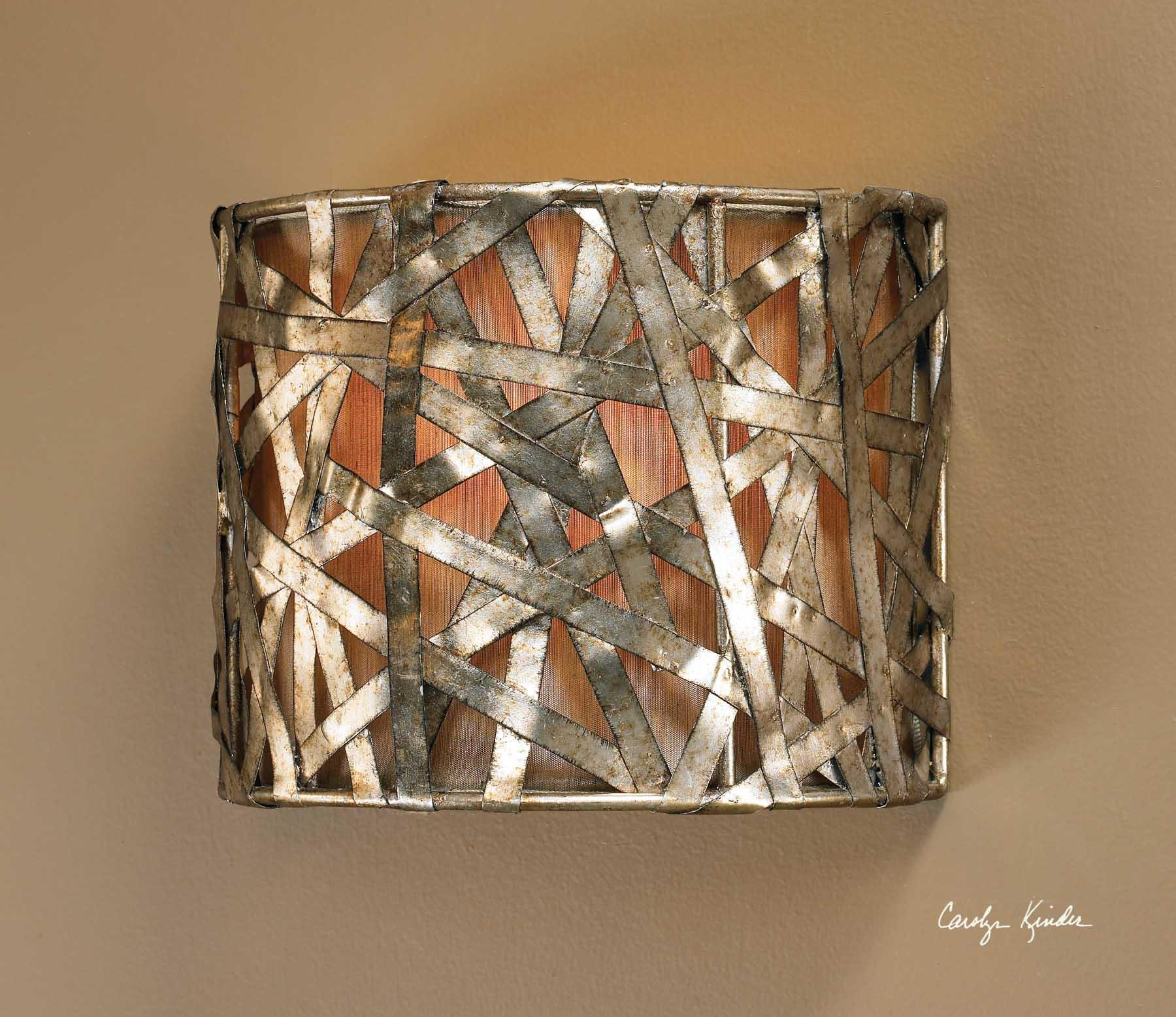 Uttermost Lighting Fixtures Alita Champagne 1 Light Wall Sconce - Item Number: 22464