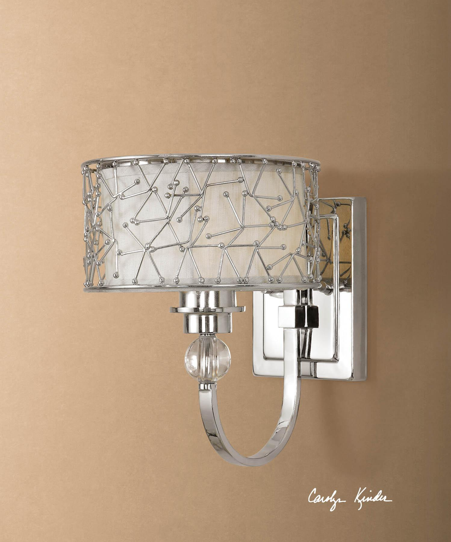 Uttermost Lighting Fixtures Brandon 1 Light Wall Sconce - Item Number: 22484