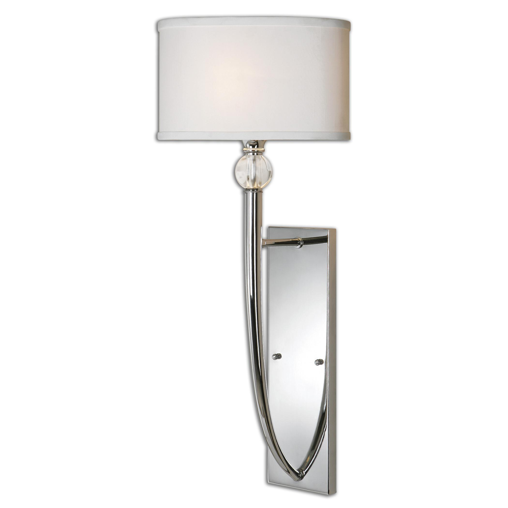 Uttermost Lighting Fixtures Uttermost Vanalen 1 Light Chrome Wall Sconce - Item Number: 22493