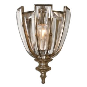 Uttermost Lighting Fixtures Uttermost Vicentina 1 Light Crystal Wall Sco