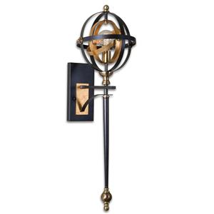 Uttermost Lighting Fixtures Rondure 1 Light Oil Rubbed Bronze Sconce