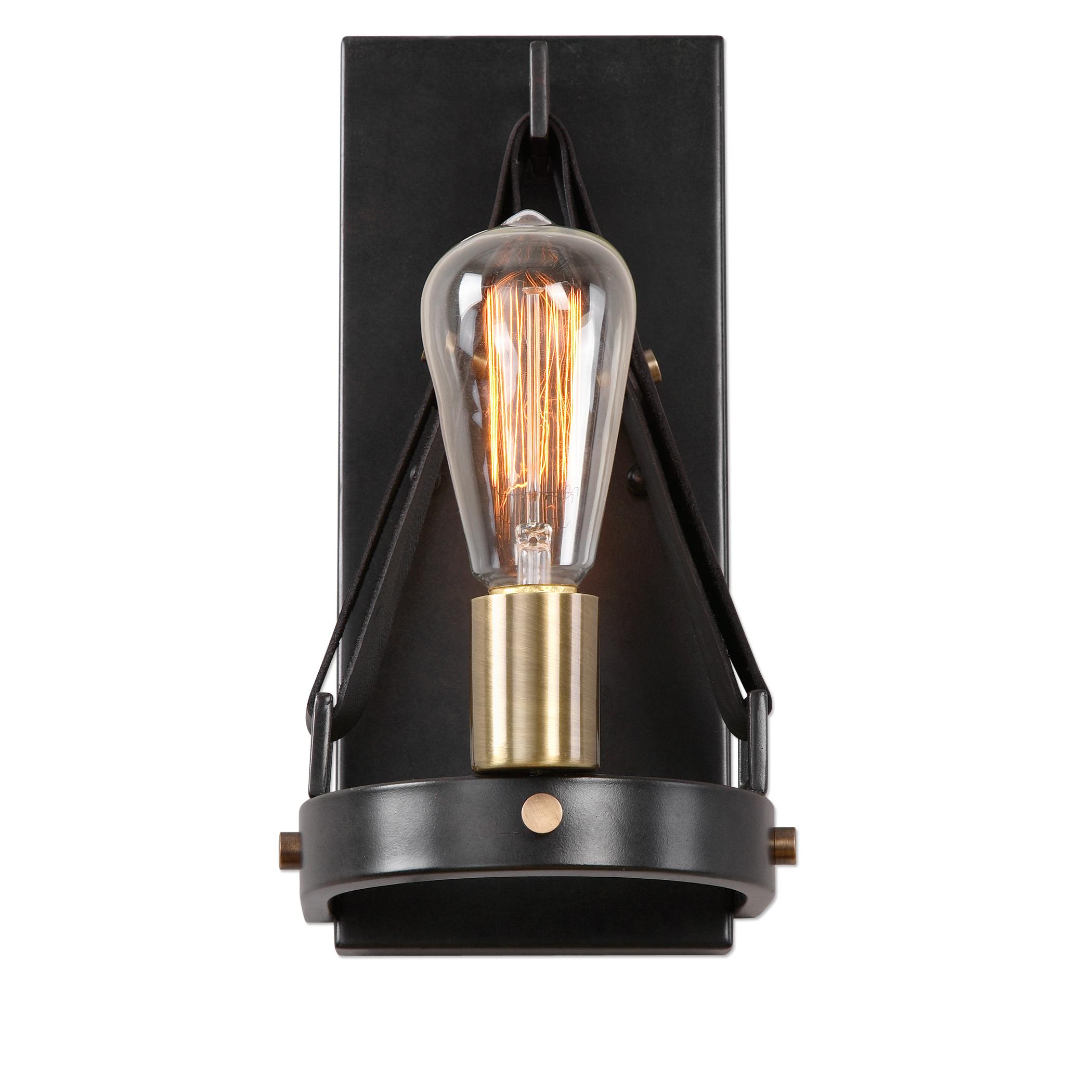 Uttermost Lighting Fixtures Marlow 1 Light Dark Bronze Sconce - Item Number: 22502
