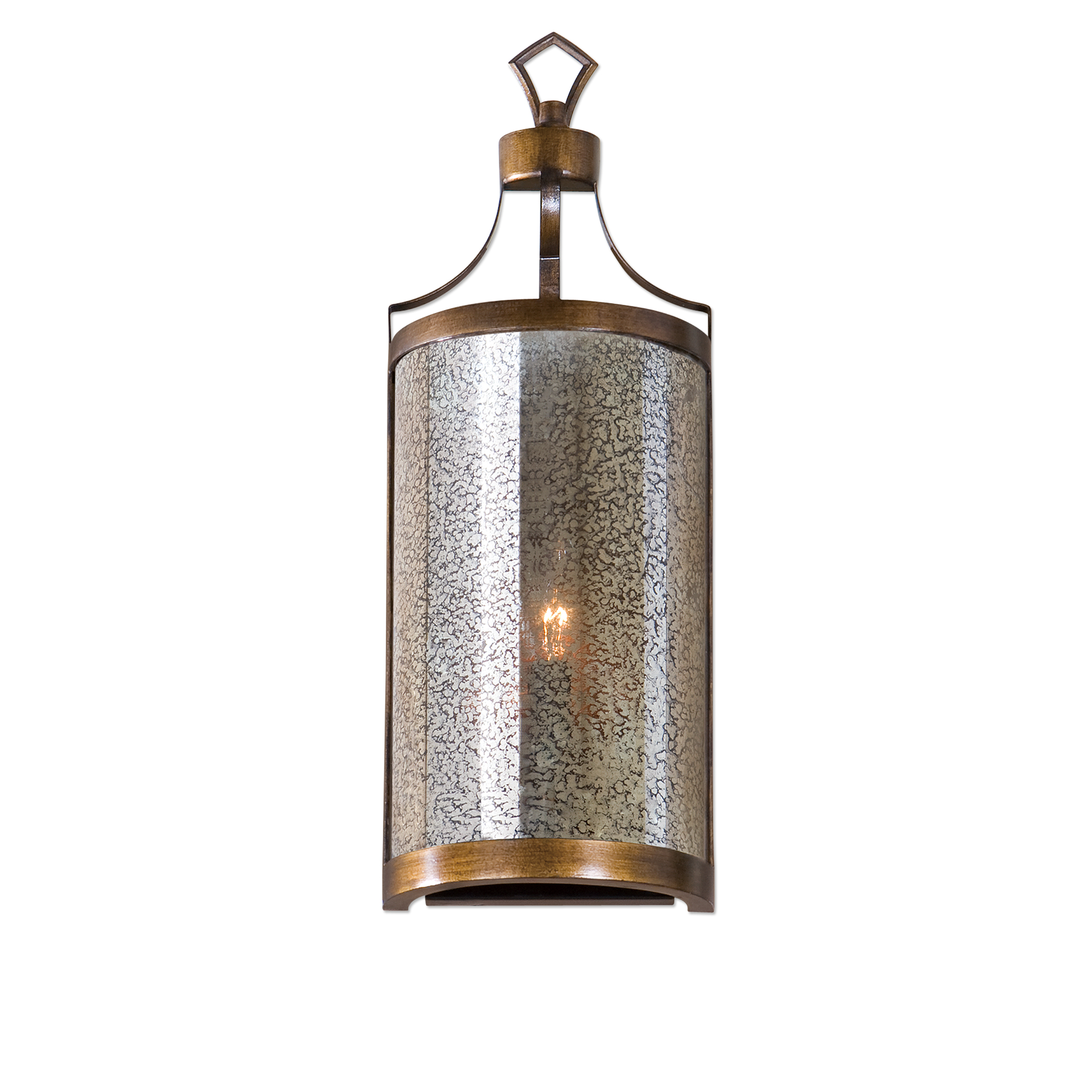 Uttermost Lighting Fixtures Croydon 1 Light Mercury Glass Sconce - Item Number: 22503