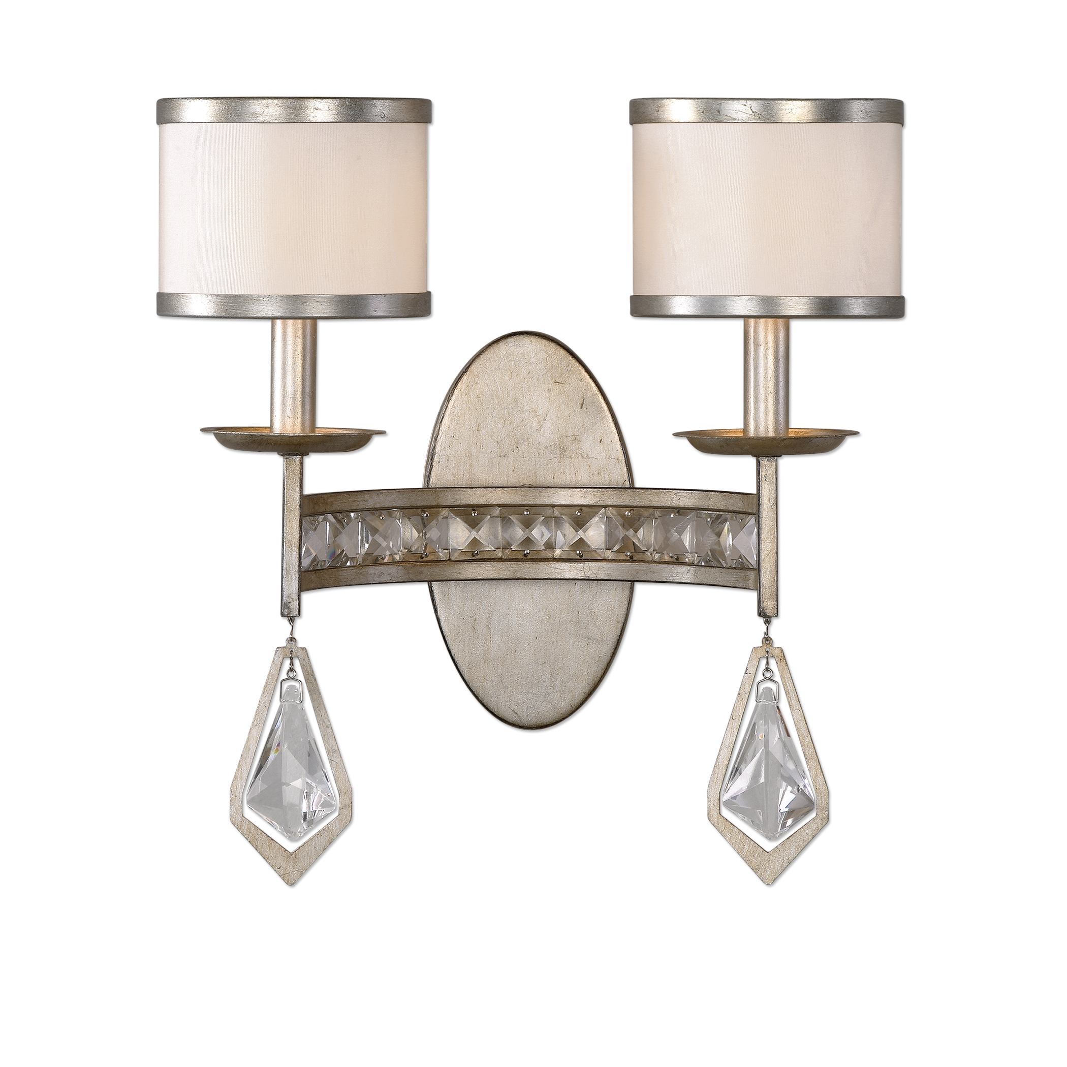 Uttermost Lighting Fixtures Tamworth Modern 2 Light Sconce - Item Number: 22504