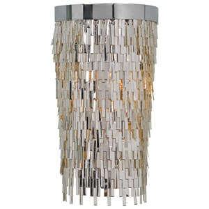 Uttermost Lighting Fixtures Millie 1 Light Chrome Sconce