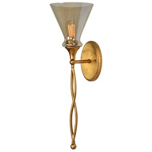 Uttermost Lighting Fixtures Glam 1 Light Gold Sconce