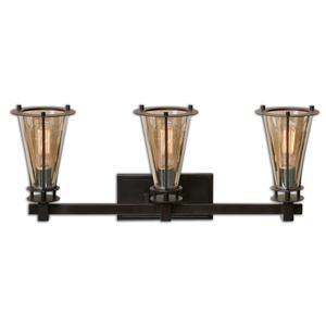 Uttermost Lighting Fixtures Frisco 3 Light Rustic Vanity Strip