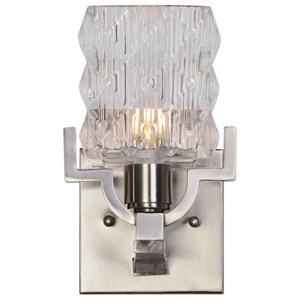 Uttermost Lighting Fixtures Copeman Brushed Nickel 1 Light Sconce