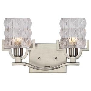 Uttermost Lighting Fixtures Copeman Brushed Nickel 2 Light Vanity Strip