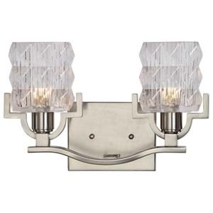 Uttermost Lighting Fixtures Copeman Brushed Nickel 2 Light Vanity Strip