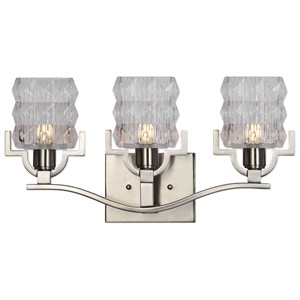 Uttermost Lighting Fixtures Copeman Brushed Nickel 3 Light Vanity Strip