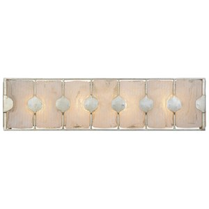 Uttermost Lighting Fixtures Rene 4 Light Swirl Glass Vanity