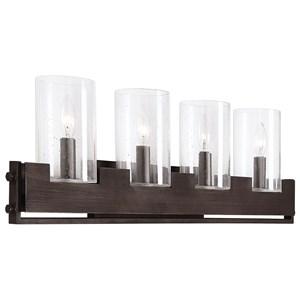 Uttermost Lighting Fixtures Pinecroft Industrial 4 Light Vanit