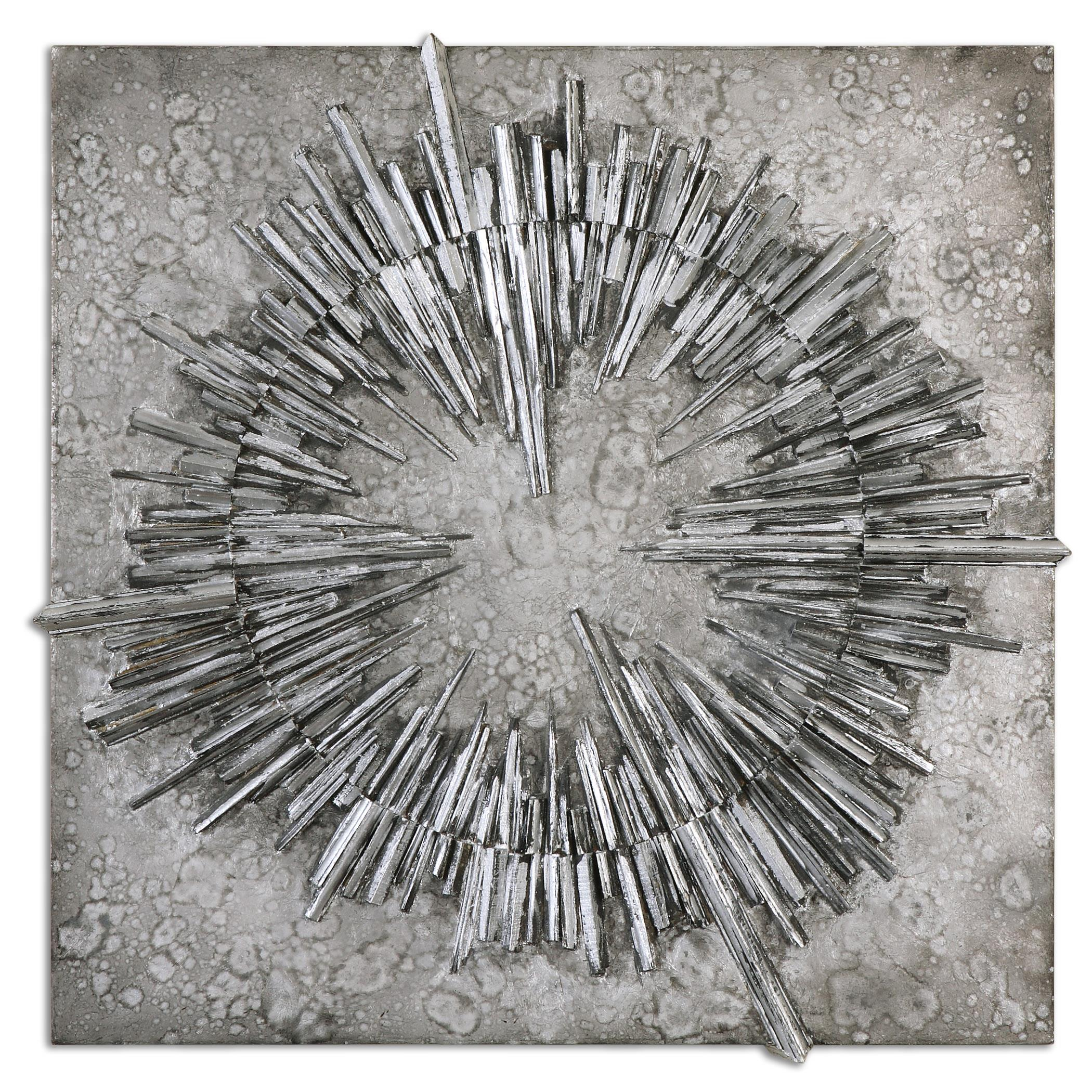 Uttermost Alternative Wall Decor Nebulus Silver Wall Art - Item Number: 01303