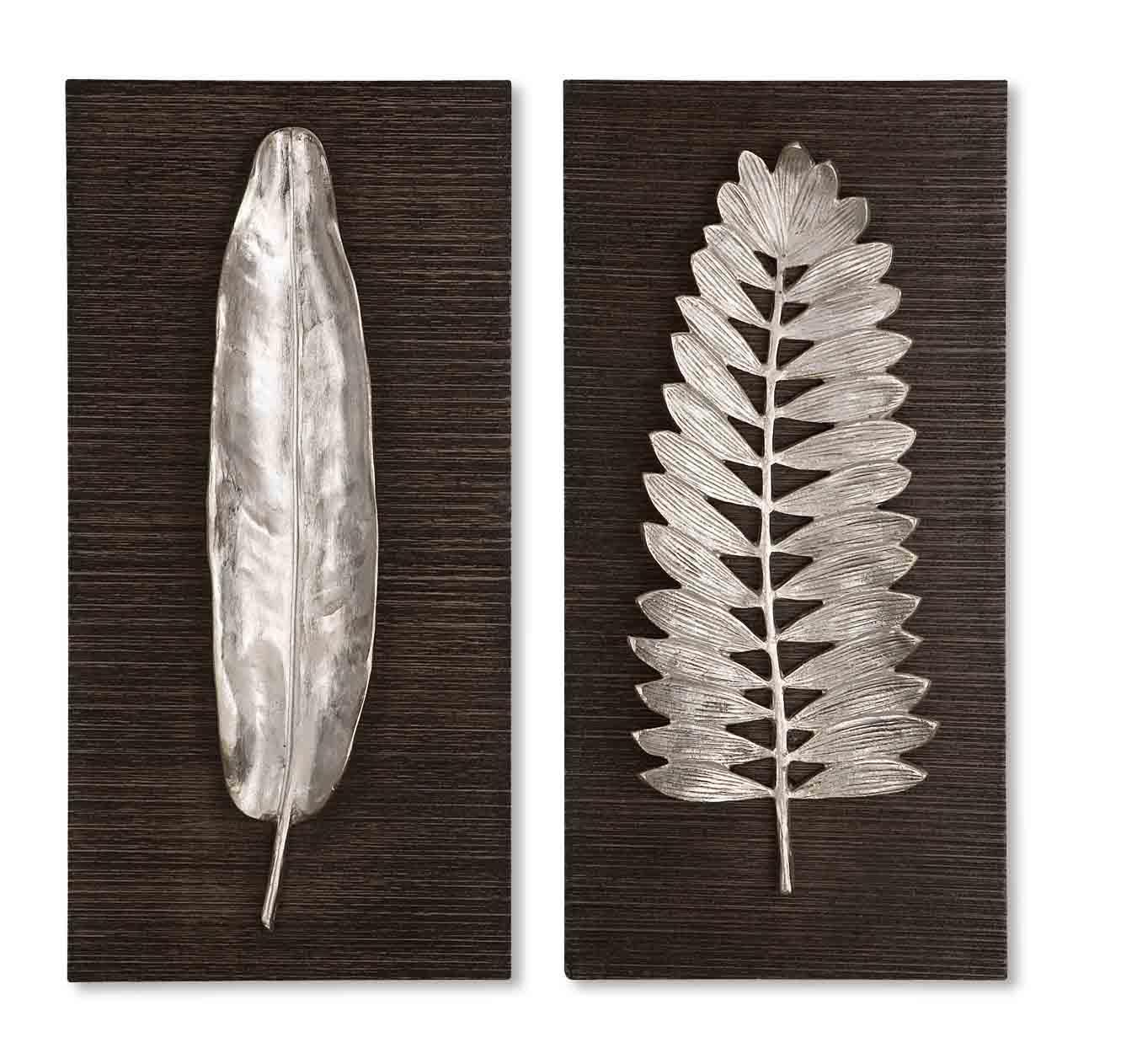 Uttermost Alternative Wall Decor Silver Leaves Set of 2 - Item Number: 04001