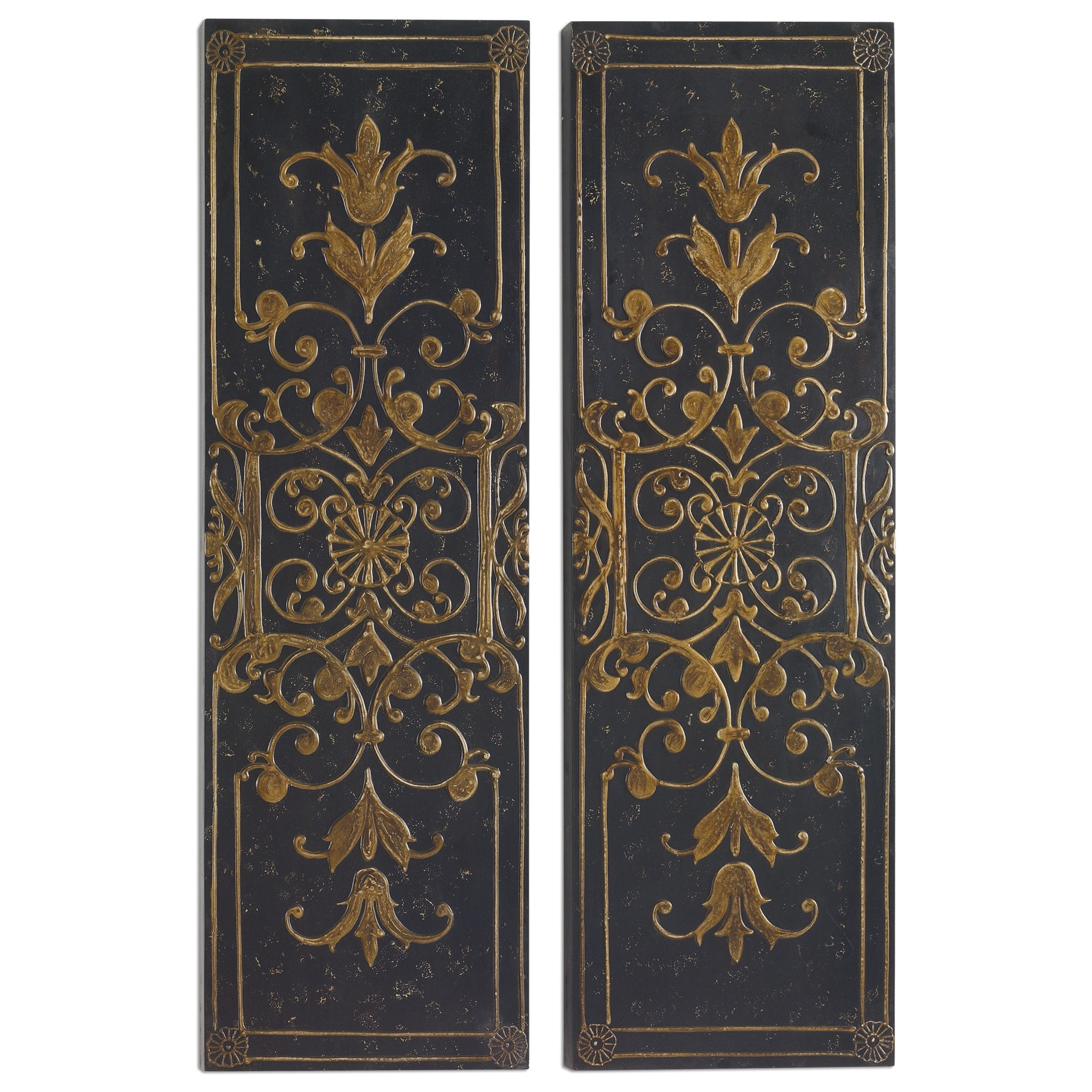 Uttermost Alternative Wall Decor Melani Decorative Panels S/2 - Item Number: 04023