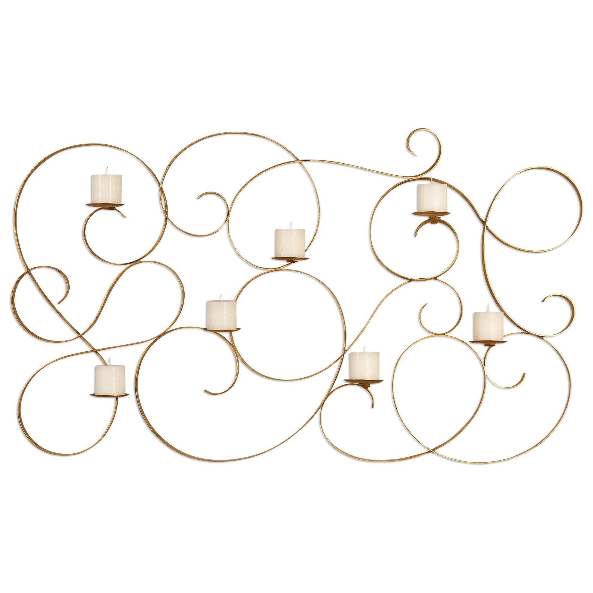 Uttermost Alternative Wall Decor Corinne 7 Candle Wall Sconce - Item Number: 04030