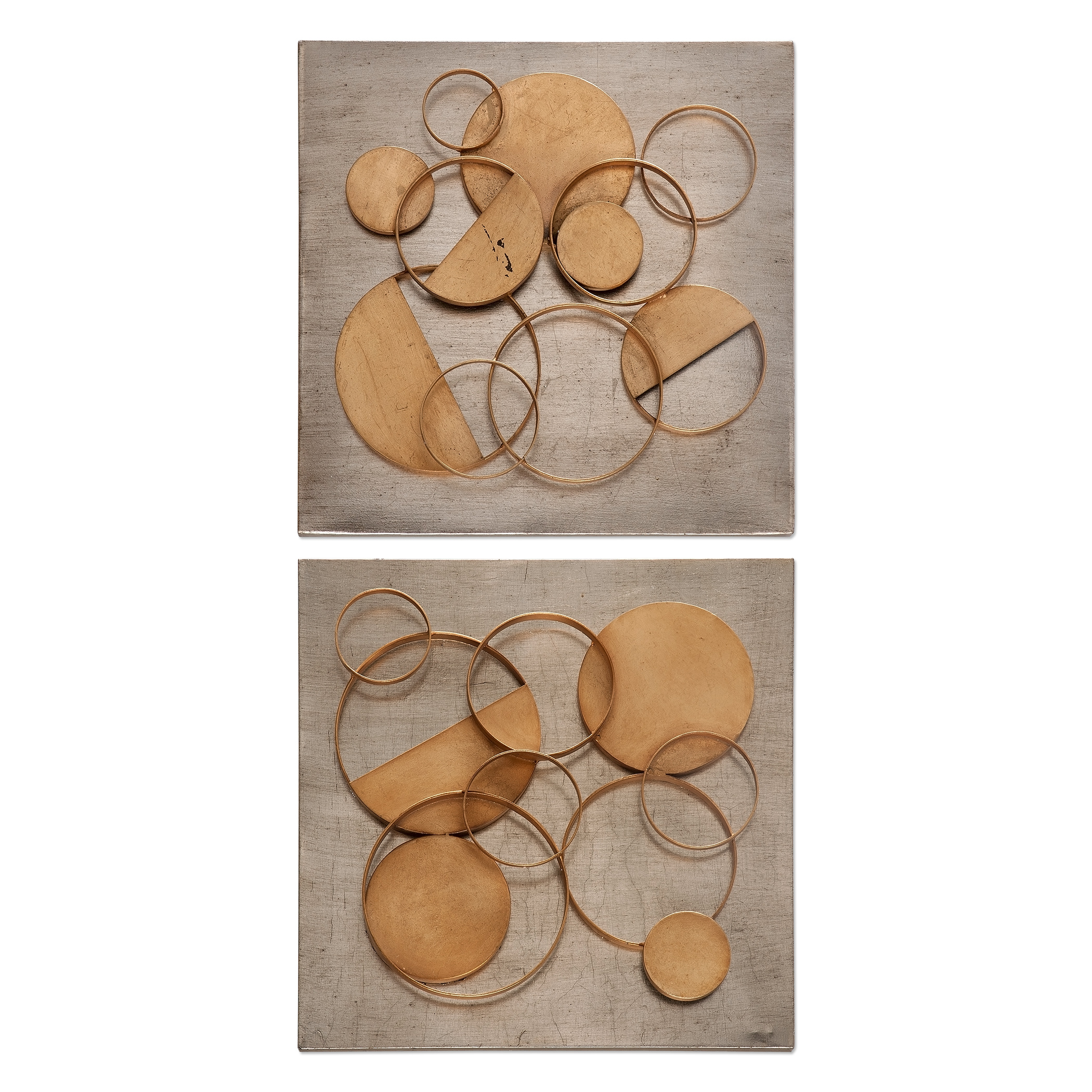Uttermost Alternative Wall Decor Hanlon Metal Squares, S/2 - Item Number: 04031