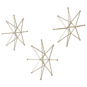 Uttermost Alternative Wall Decor Gold Stars Wall Art, S/3