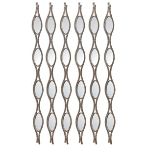 Uttermost Alternative Wall Decor Tiberio Mirrored Wall Art S/6