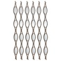 Uttermost Alternative Wall Decor Tiberio Mirrored Wall Art S/6 - Item Number: 04043