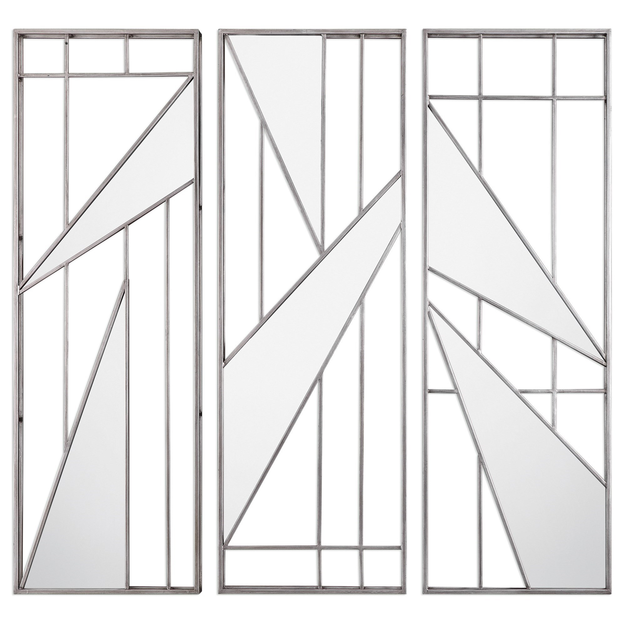 Uttermost Alternative Wall Decor  Ryker Modern Mirrored Wall Art (Set of 3) - Item Number: 04050