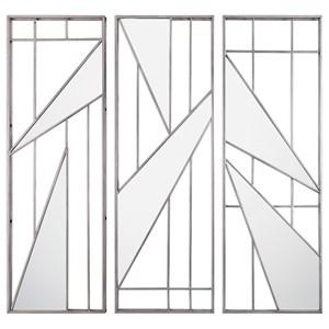 Uttermost Alternative Wall Decor  Ryker Modern Mirrored Wall Art (Set of 3)