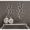 Uttermost Alternative Wall Decor Silver Branches (Set of 2)