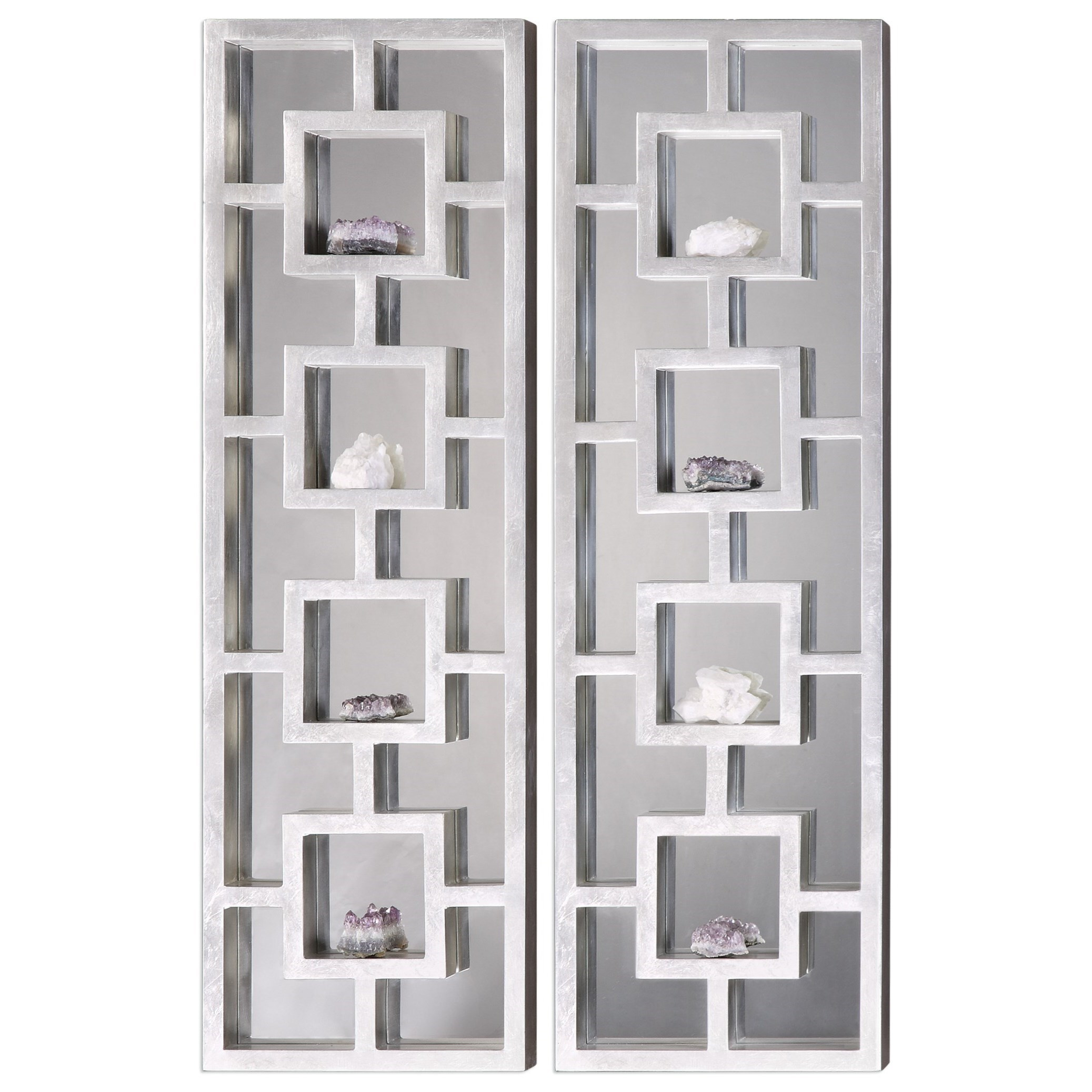 Uttermost Alternative Wall Decor  Lyndon Mirrored Shadow Box (Set of 2) - Item Number: 04055