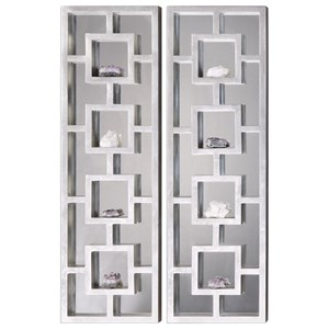 Uttermost Alternative Wall Decor  Lyndon Mirrored Shadow Box (Set of 2)