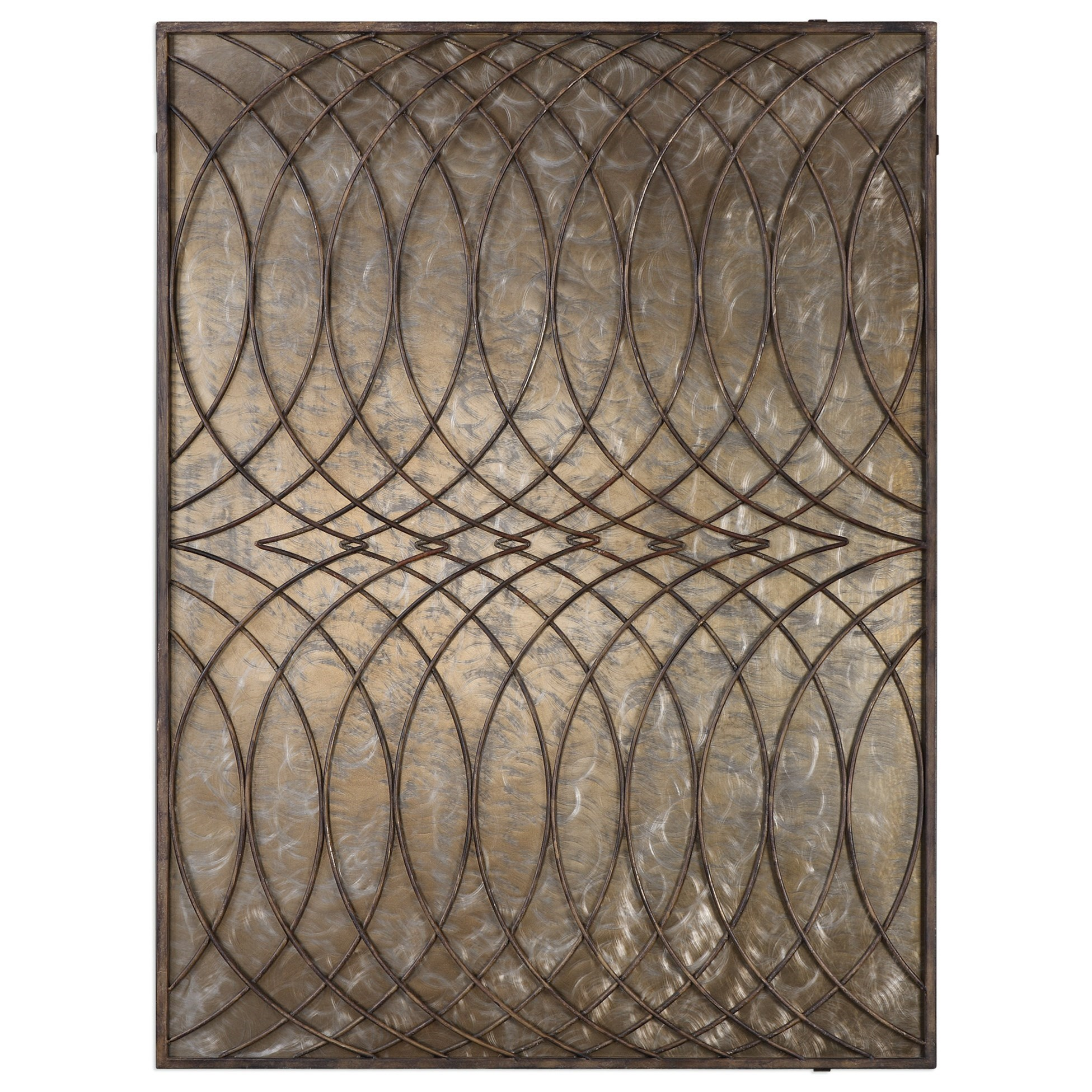 Uttermost Alternative Wall Decor  Kanza Antique Bronze Wall Panel - Item Number: 04071