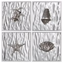 Uttermost Alternative Wall Decor Low Tide (Set of 4) - Item Number: 04072
