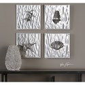 Uttermost Alternative Wall Decor Low Tide (Set of 4)