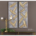 Uttermost Alternative Wall Decor  Falling Feathers Gold Wall Art (Set of 2)