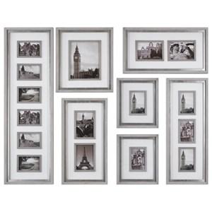 Uttermost Alternative Wall Decor  Seine Gray Oak Photo Collage (Set of 7)