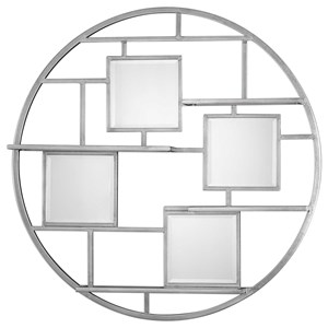 Uttermost Alternative Wall Decor Zaria Mirrored Round Wall Shelf