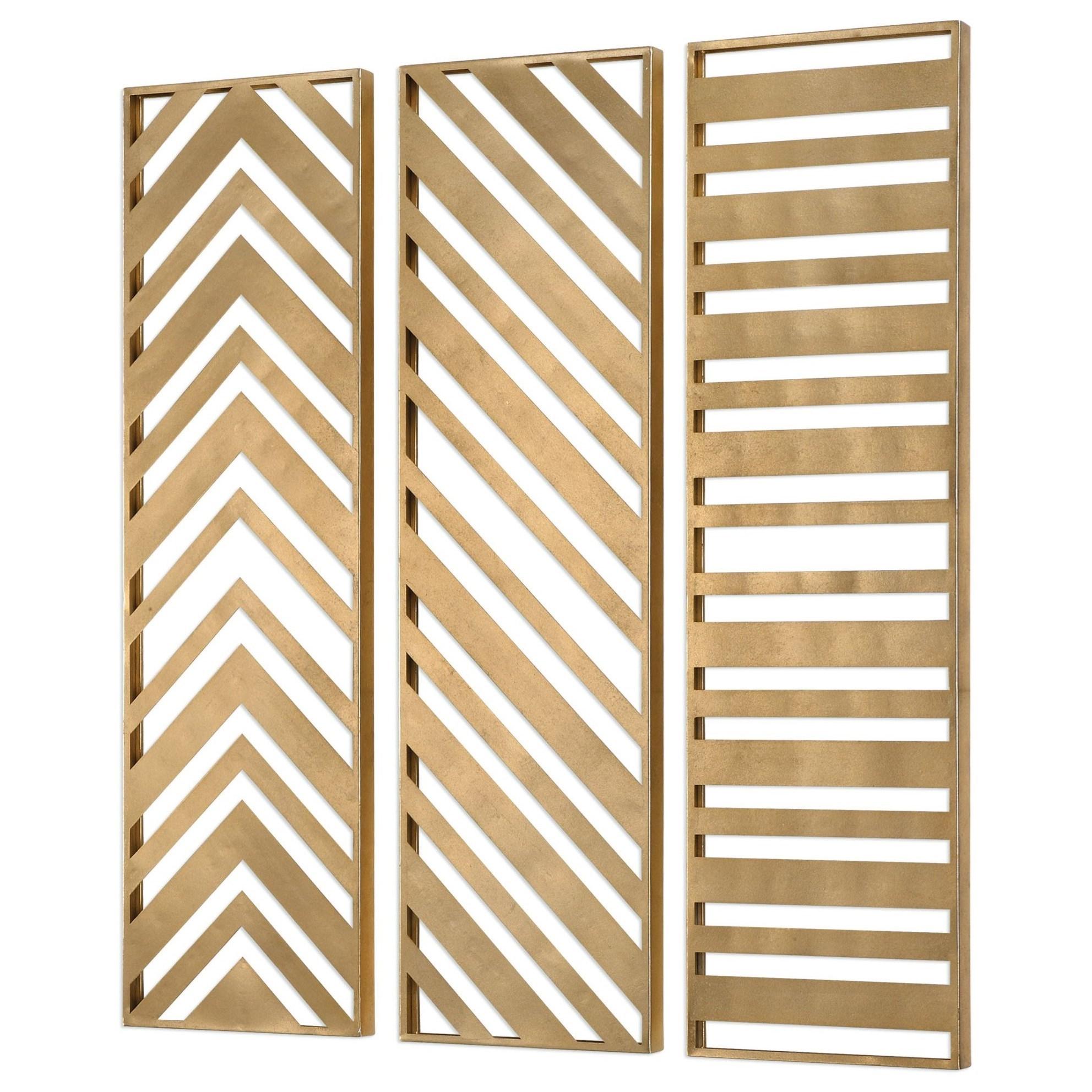 Zahara Gold Panels Set of 3