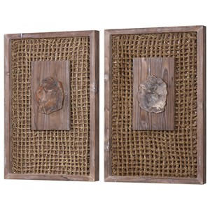 Uttermost Alternative Wall Decor Endicott Petrified Wood Panels Set of 2