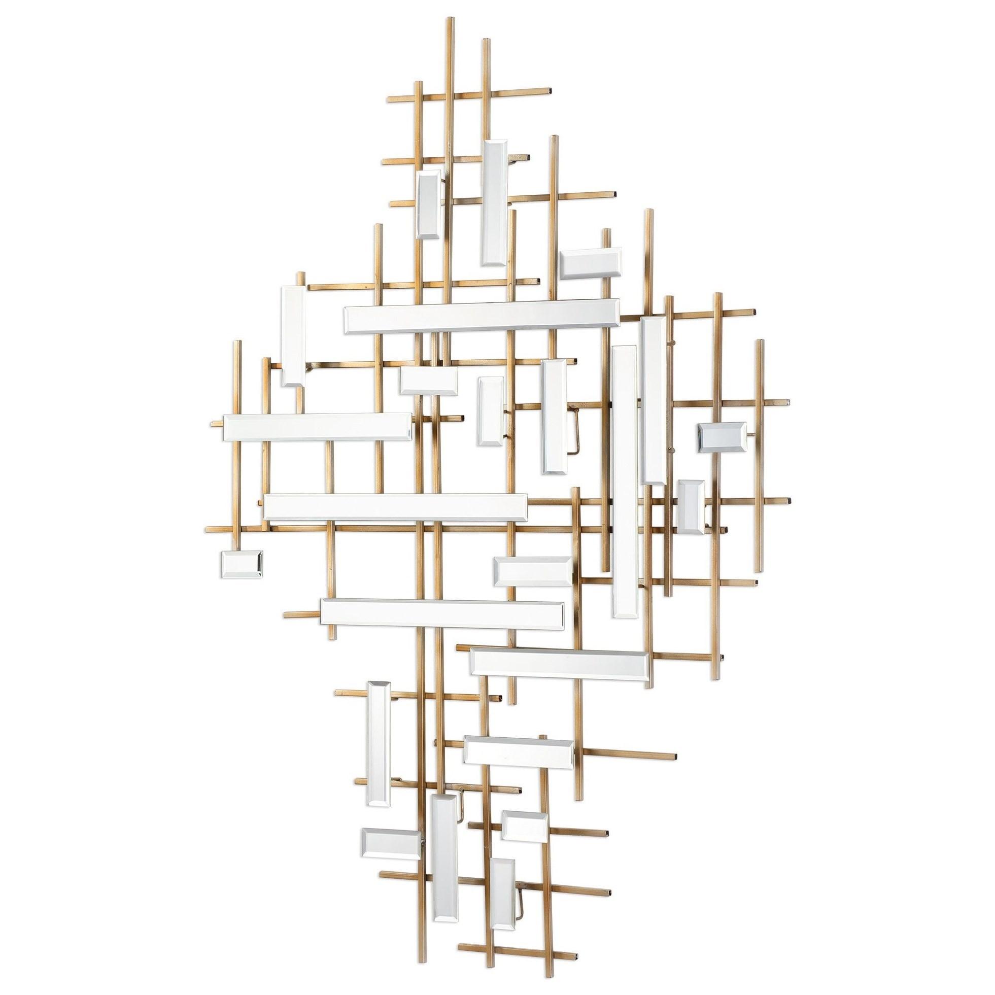 Apollo Gold & Mirrored Wall Art