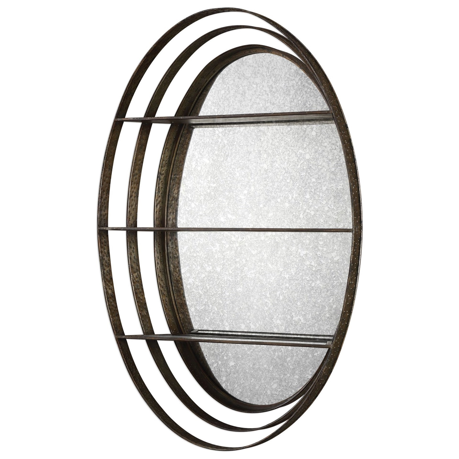Carine Antique Mirrored Wall Shelf