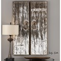 Uttermost Alternative Wall Decor Giles Aged Wood Wall Art, S/2 - Item Number: 04143
