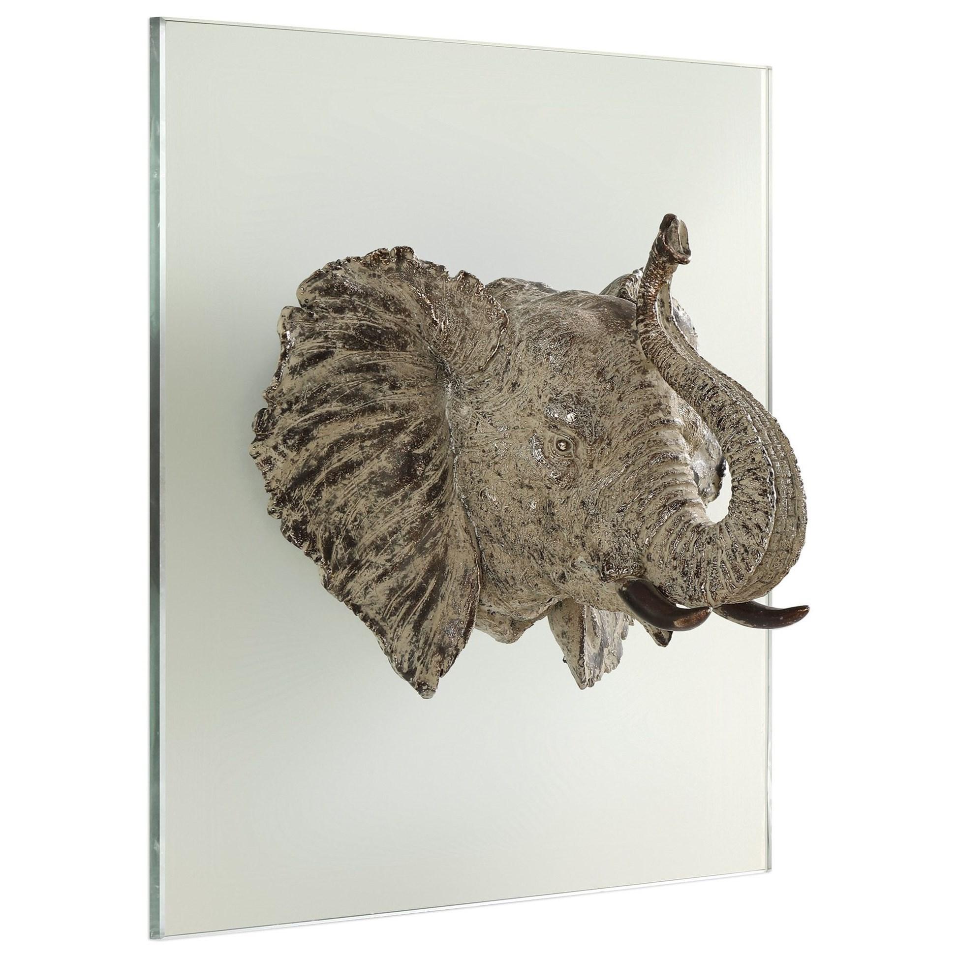 Kandula Aged Bronze Elephant Head