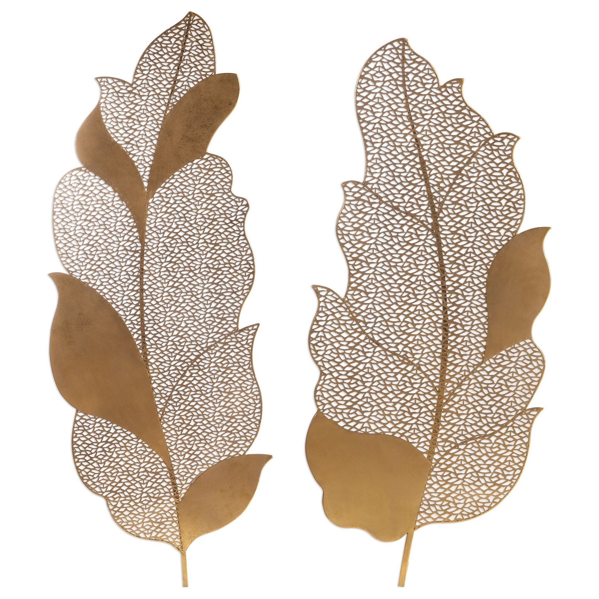 Autumn Lace Leaf Wall Art, S/2
