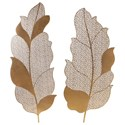 Uttermost Alternative Wall Decor Autumn Lace Leaf Wall Art, S/2 - Item Number: 04154