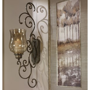 Uttermost Alternative Wall Decor Davinia Candle Sconce